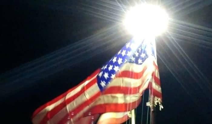 best solar flagpole light