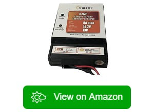 ZEALLIFE Solar Panels Charge Controller 8A Battery Regulator for 12V Solar Batt
