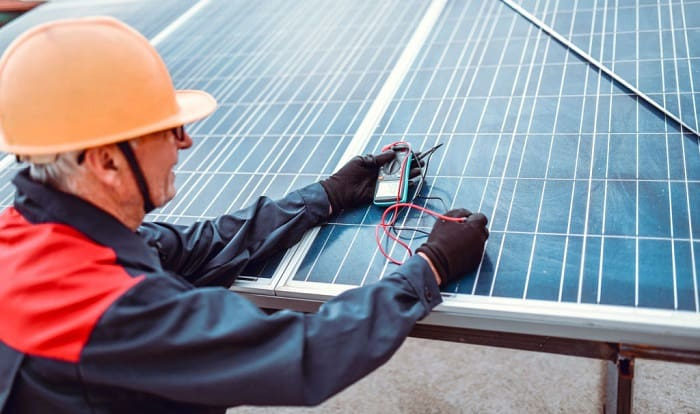 how to test a solar panel with a multimeter
